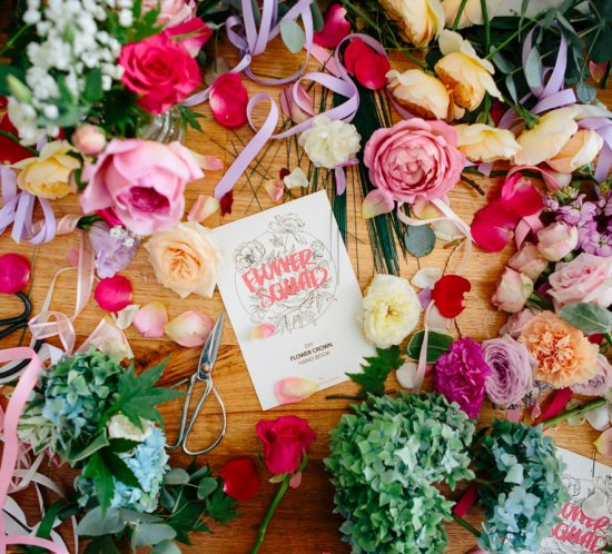 Wedding day florals with The Gathering Florist