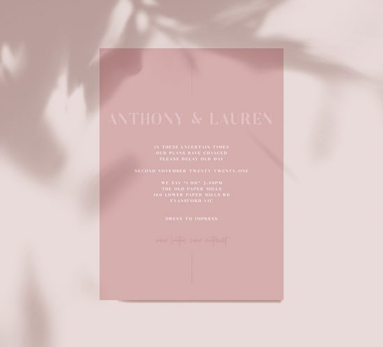 Postponed? How to pivot when it comes to wedding stationery
