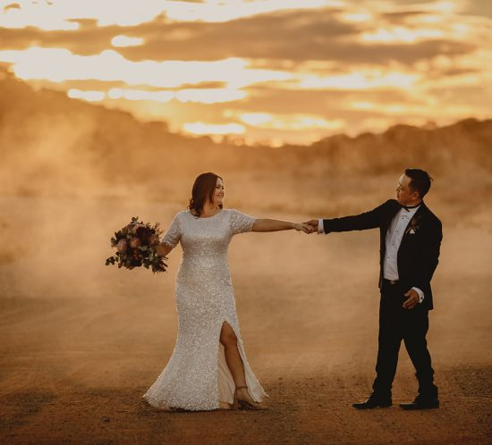 Real Wedding – Cassie and Jarred, Alice Springs, NT